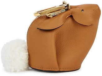 Loewe Tan Leather Bag Charm