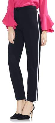 Vince Camuto Tuxedo Stripe Ponte Ankle Pants