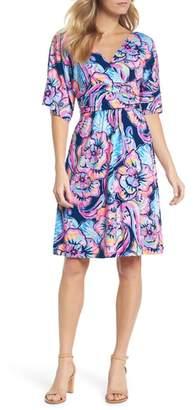 Lilly Pulitzer R) Parigi Floral Kimono Sleeve Dress