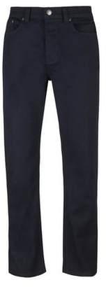 Burton Mens Navy 5 Pocket Logan Straight Fit Jeans