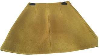 Cos Yellow Wool Skirt for Women