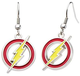 Lightning Bolt DC Comics Women's Flash Drop Earrings
