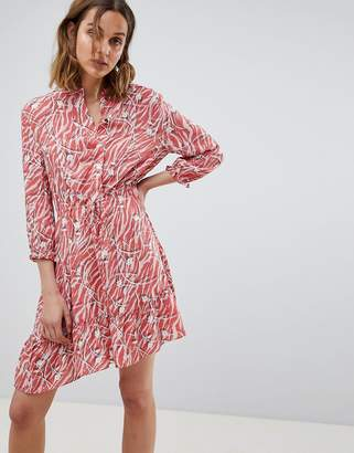 AllSaints printed shirt dress