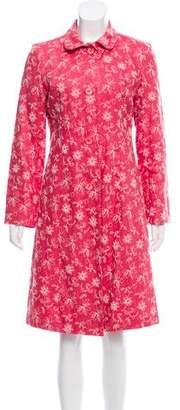 LK Bennett Floral Pattern Linen Coat