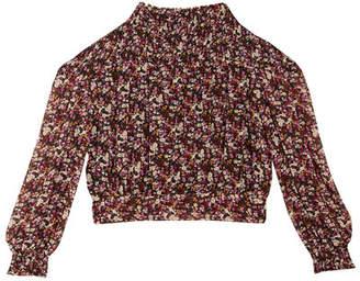 Bardot Junior Girl's Grace Shirred Floral Print Top, Size 8-16