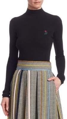 Rosie Assoulin Ribbed Mockneck Knit