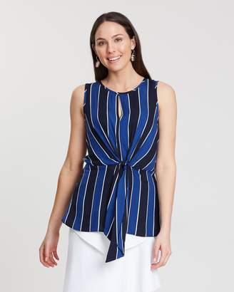 Dorothy Perkins Sleeveless Stripe Tie Top