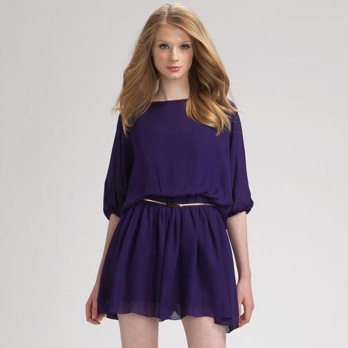 Myne Belted Silk Mini Dress