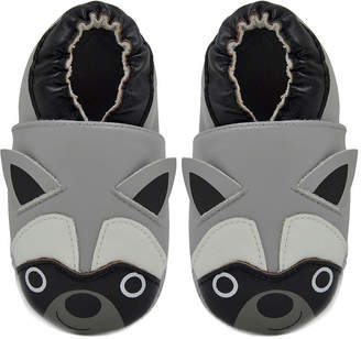 Momo Baby Boys Soft Sole Leather Baby Shoes - Raccoon