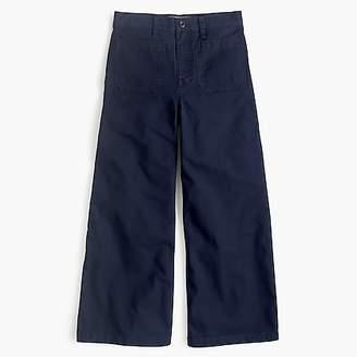 J.Crew Point Sur washed wide-leg crop pant