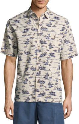 Island Shores Short Sleeve Button-Front Shirt