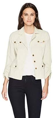 XCVI Women's Folksy Jacket Stretch Poplin Solid