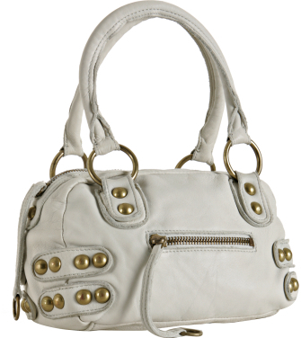 Linea Pelle white leather 'Dylan' speedy bag