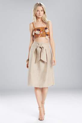 Natori Josie Cotton Shirting Embroidered Bralette