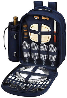 One Kings Lane Picnic Backpack Cooler for Four - Navy