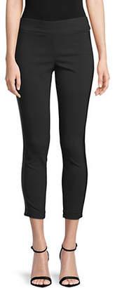 INC International Concepts Petite Satin Stripe Cropped Pants