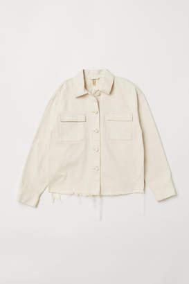 H&M Embroidered Denim Jacket - Beige