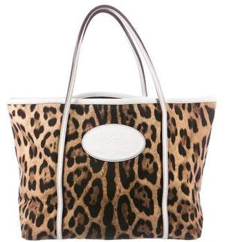 Pre Owned At Therealreal Dolce Gabbana Animalier Canvas Tote