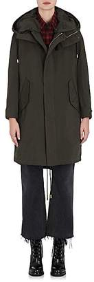 The RERACS Women's Tech-Twill Oversized Parka With Wool Vest