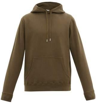 Sunspel Cotton Loop Back Jersey Hooded Sweatshirt - Mens - Green