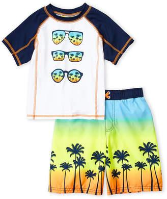 Trunks Bunz Kidz (Boys 4-7) Two-Piece Sunglasses Rash Guard & Set