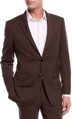 Ermenegildo Zegna Solid Wool Two-Piece Suit