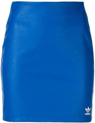 adidas PU mini skirt