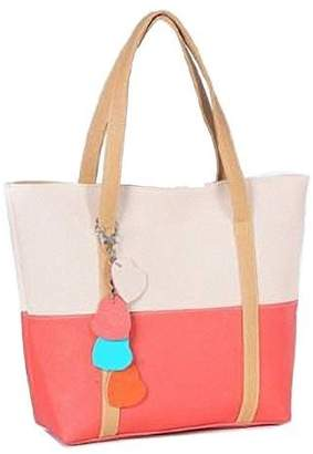 Christian Louboutin LCL C&L 1PC Sweet Elegent Mixed Color Totes Chain Pendants Hobo Shoulder Bag Handbag (Hot Pink)