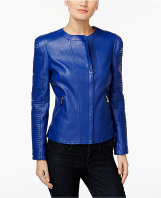 INC International Concepts Faux-Leather Moto Jacket, Only at Macy's $119.50 thestylecure.com