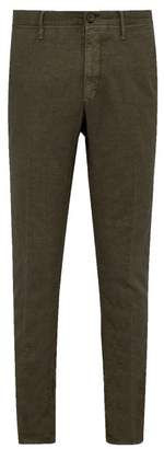 Incotex Slim Fit Linen Blend Trousers - Mens - Khaki