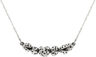Lee Renee Loveliness Of Ladybird Necklace Silver