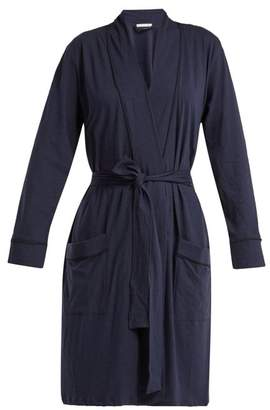 Skin - Omorose Pima Cotton Robe - Womens - Navy