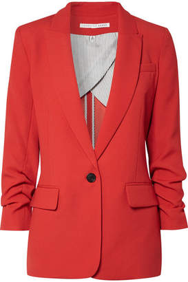 Veronica Beard Graham Dickey Crepe Blazer - Red