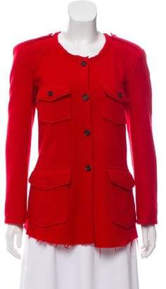 Etoile Isabel Marant Wool Collarless Coat