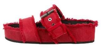 Rag & Bone Canvas Flatform Sandals
