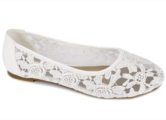 Greatonu Women Shoes Cut Out Slip On Synthetic Lace Ballet Flats (36 EU/5 US, )