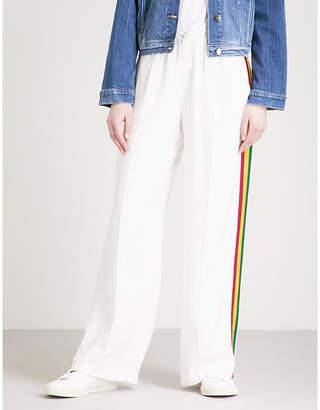 SERENA BUTE LONDON Classic side-stripe silk jogging bottoms