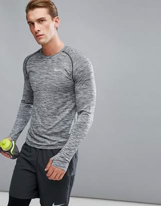 Nike Running Dri-Fit Long Sleeve Top In Black 833565-010