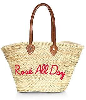 Poolside Women's Rosé All Day Classic Large Beach Tote
