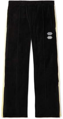Off-White Off White Logo-Intarsia Cotton-Blend Velour Sweatpants - Men - Black