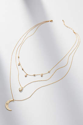Anthropologie Over The Moon Layered Necklace