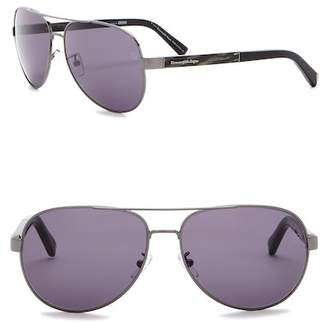 Ermenegildo Zegna 62mm Aviator Sunglasses