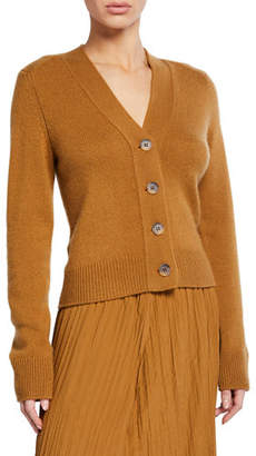 Vince Button-Front Shrunken Cashmere Cardigan