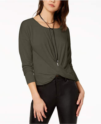 American Rag Juniors' Twist-Front Sweater, Created for Macy's