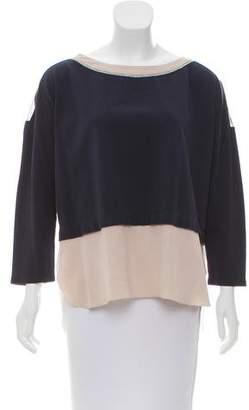 Fabiana Filippi Silk-Trimmed Long Sleeve Top