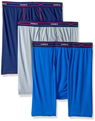 Hanes Men's 3-Pack X-Temp Performance Cool Checker Polyester Boxer Brief