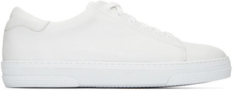 A.P.C. Off-White Steffi Tennis Sneakers $355 thestylecure.com