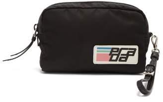 Prada Logo Patch Make Up Bag - Womens - Black Multi