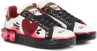 Dolce & Gabbana Portofino Melt leather sneakers