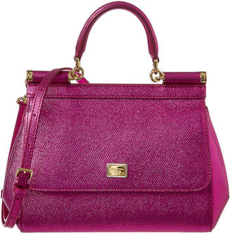 4bf69f0a45f5 Dolce   Gabbana Pink Metallic Leather Handbags - ShopStyle